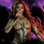 Superstar Beyonce goes through some sexy costume changes as she returns to the stage on the first night of her 'Mrs Carter World Tour' at Kombank Arena in Belgade, Serbia